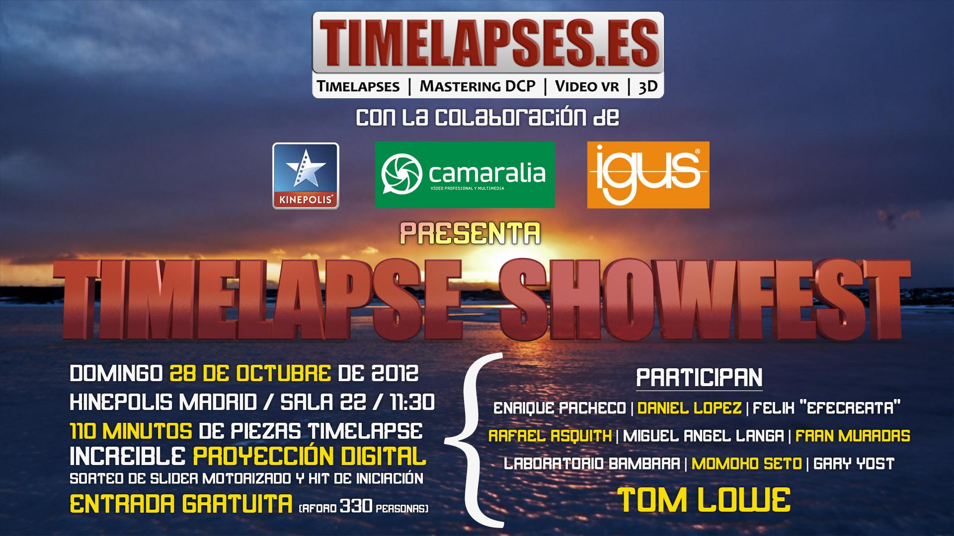 Estaremos en el Timelapse Showfest 2012 ¿Y tú?