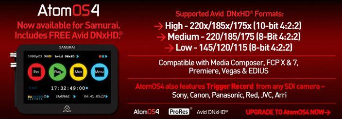 Beneficios de los grabadores Atomos (IV): Grabación en DNxHD