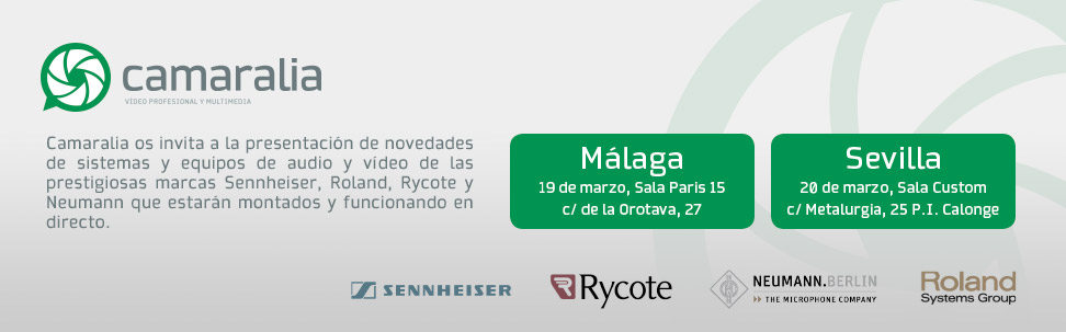 Presentación de Sennheiser, Rycote, Roland y Neumann en Sevilla y Málaga