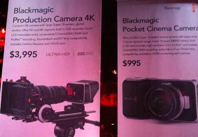 Blackmagic desvela en el NAB 2013 su cámara 4K