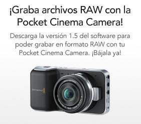 Actualiza tu Blackmagic Pocket y graba en RAW, ya disponible la versión 1.5 de software