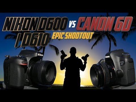Comparativa entre Nikon D600 y Canon Eos 6D