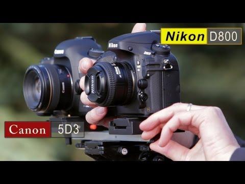 18 minutos de comparativa entre Canon 5D Mark III y Nikon D800