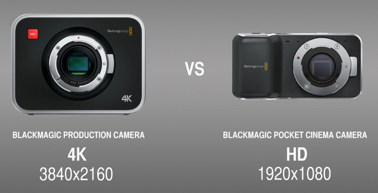 Una completa comparativa entre Blackmagic Production Camera 4K y Blackmagic Pocket