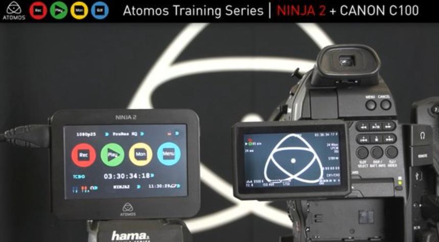 Así se configura el Atomos Ninja 2 para trabajar con la Canon C100