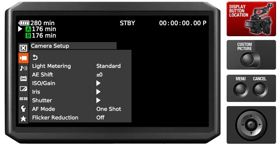 ¿Queréis probar el menú de una Canon C100? Un simulador lo hace posible