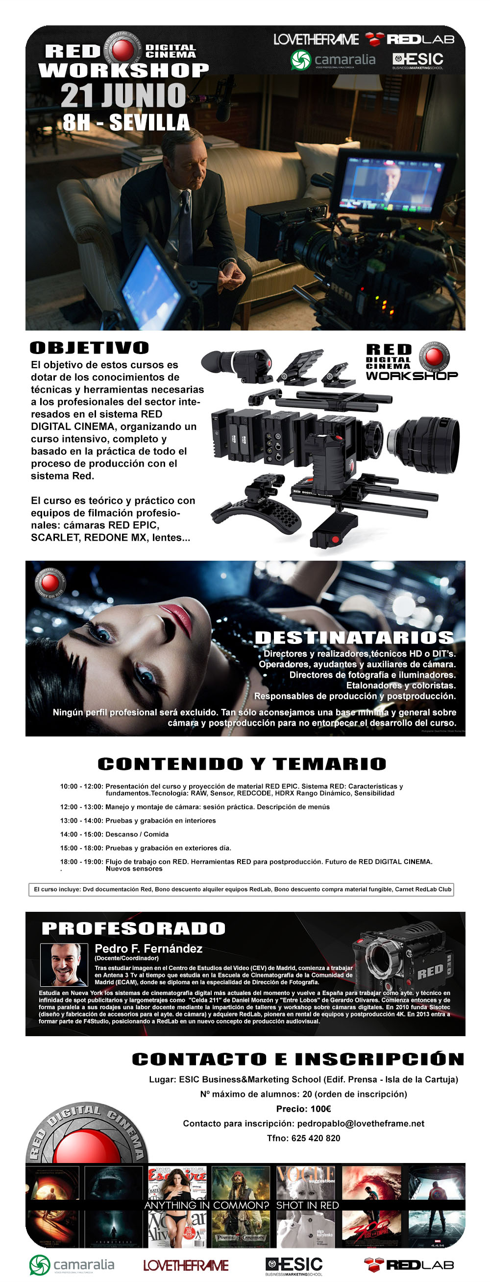 WorkShop sobre RED Digital Cinema el 21 de Junio en Sevilla