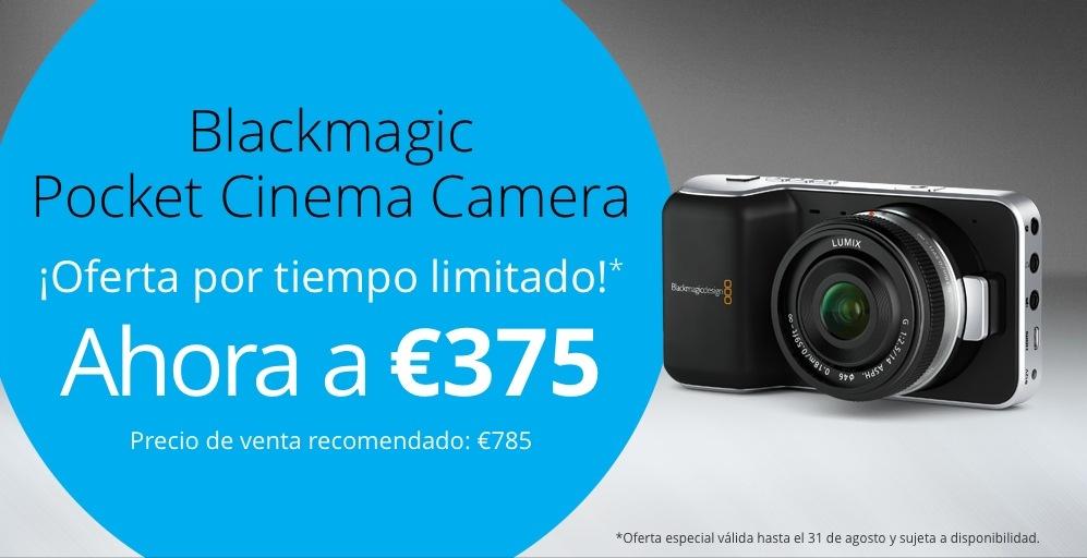 ¡Blackmagic Pocket a 375 euros!