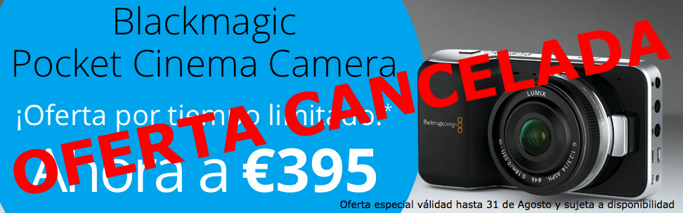 Blackmagic cancela la promoción de la Pocket