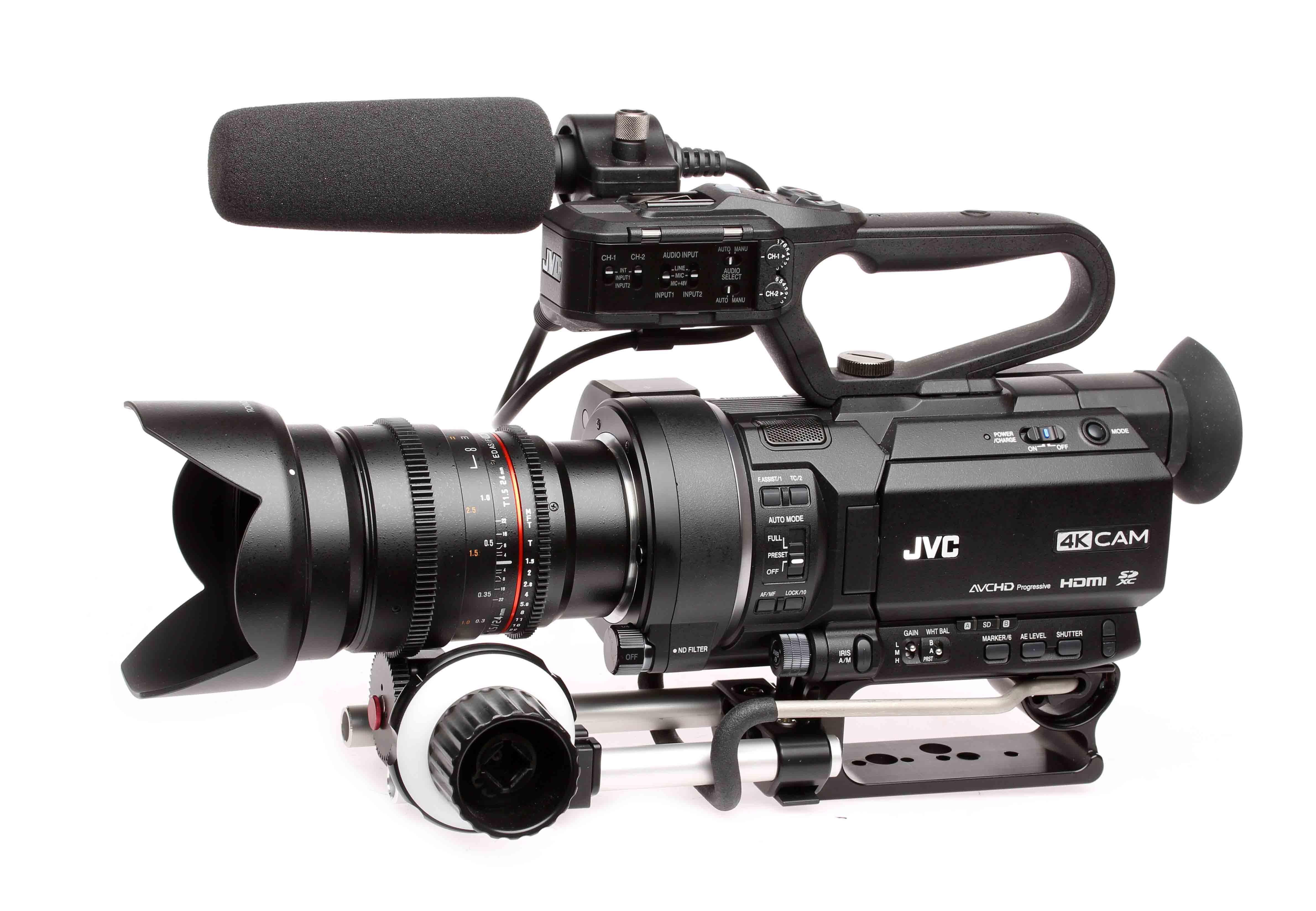 Actualización de firmware para las cámaras JVC GY-LS300, GY-HM200 y GY-HM170