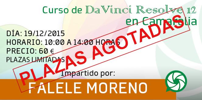 """Curso de """"DaVinci Resolve 12"""" en Camaralia"""