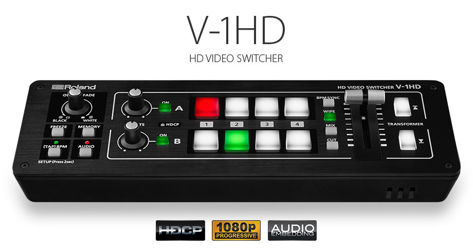Roland presenta el Vídeo Switcher V-1HD