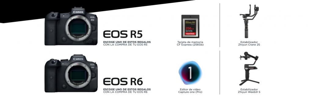 Promocion Cano Eos R5 y EOS R6 regalos